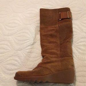 Sorel knee high wedge boots